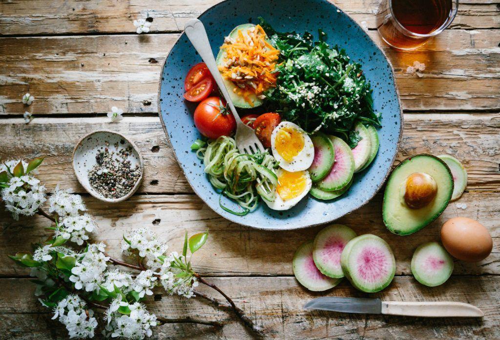 repas équilibré et nutritif légumes