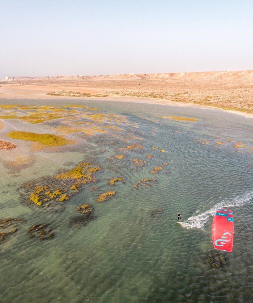 kitesurfer-Dakhla-plan-drone