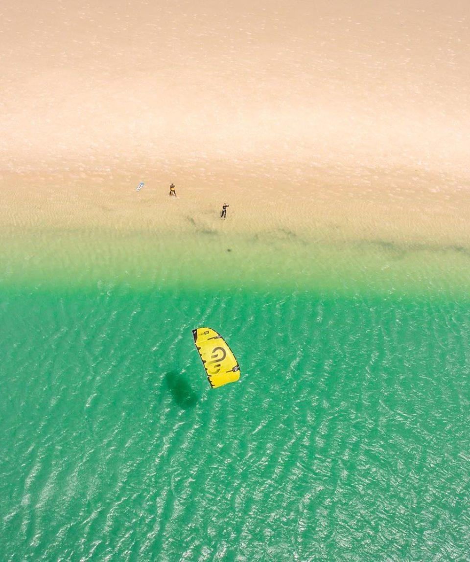 voile-plage-kitesurf-plan-drone