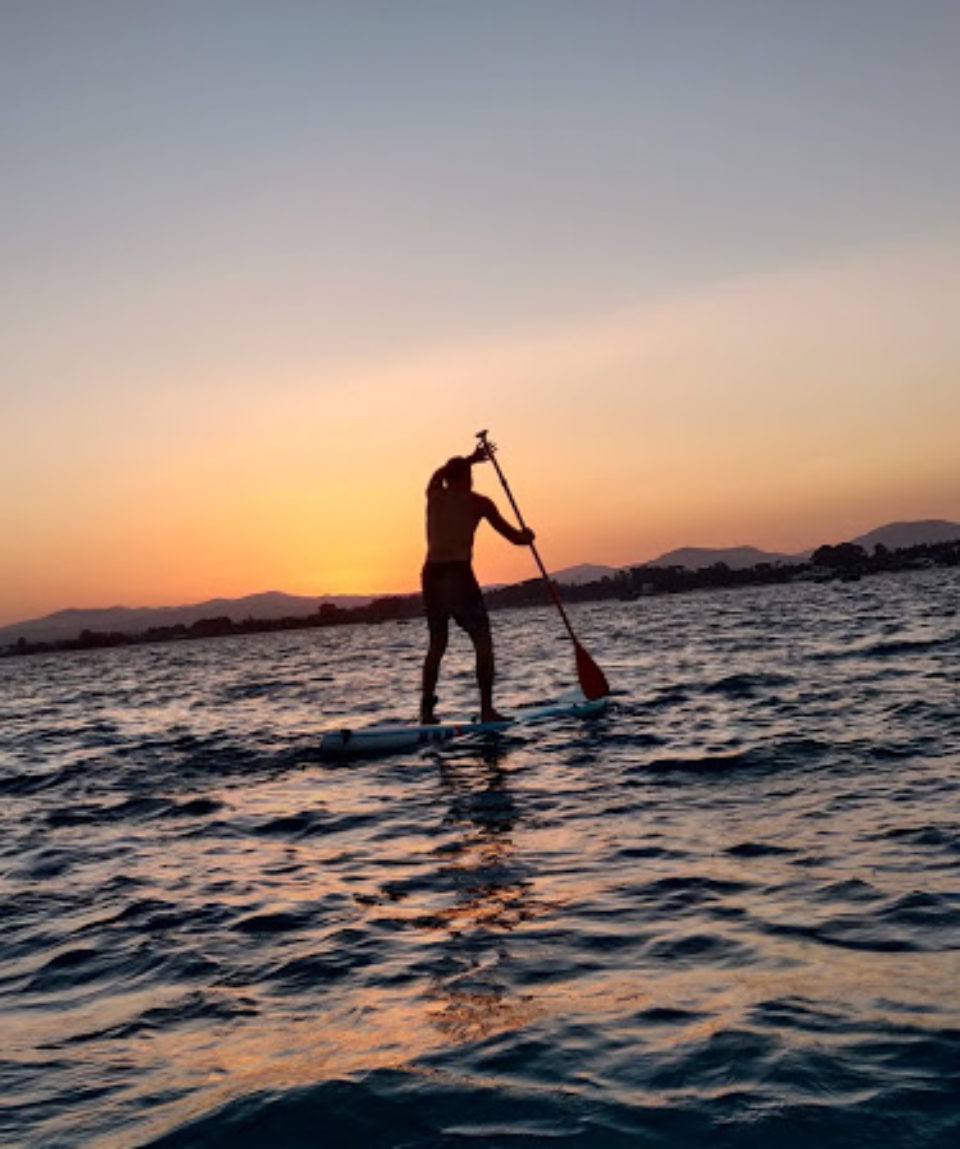 Paddle-hammamet-coucher-de-soleil