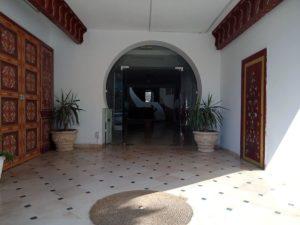 entrée de résidence Hammamet stage de yoga