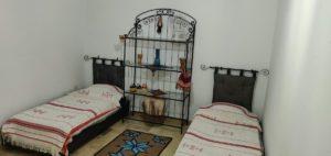 chambre lits jumeaux résidence Hammamet stage de yoga