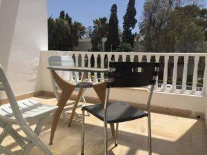 terrasse au soleil résidence Hammamet stage yoga