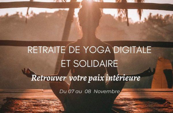 séance de yoga en ligne digitale