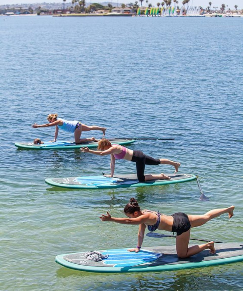 groupe femmes yoga paddle