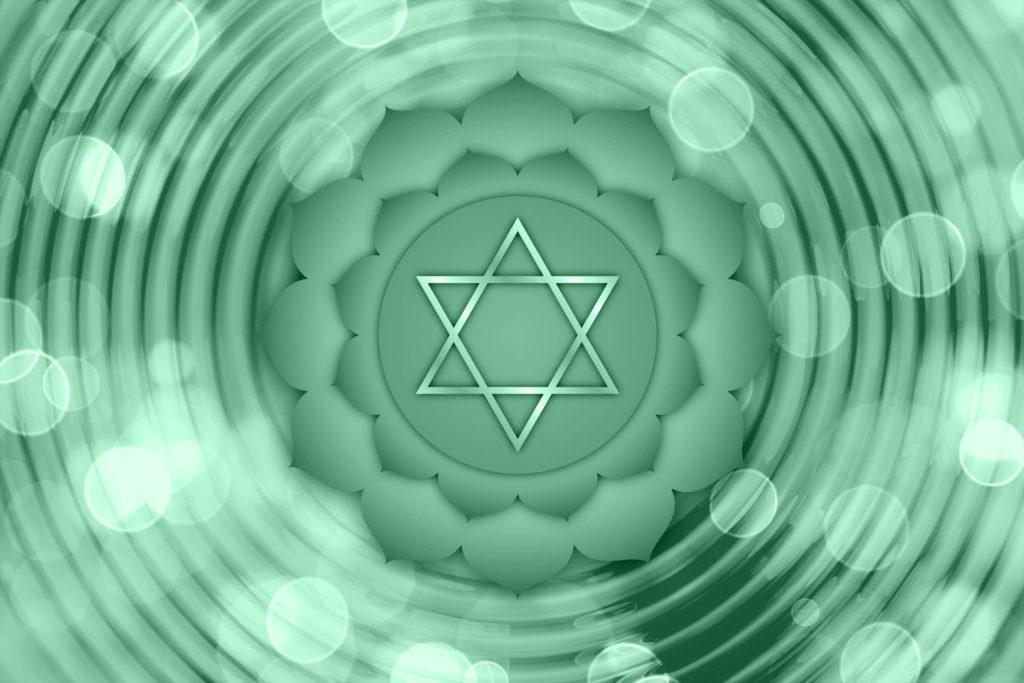 Représentation du chakra du coeur