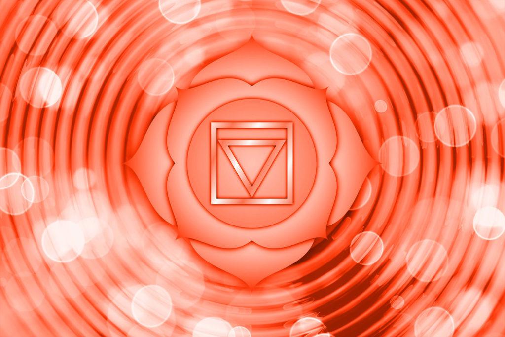 Représentation du chakra racine pour aider à comprendre comment ouvrir ses chakras et leurs bienfaits