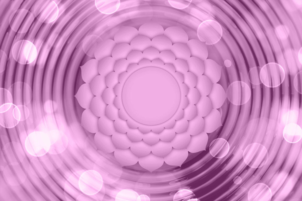 Représentation du chakra couronne pour aider à comprendre comment ouvrir ses chakras et leurs bienfaits