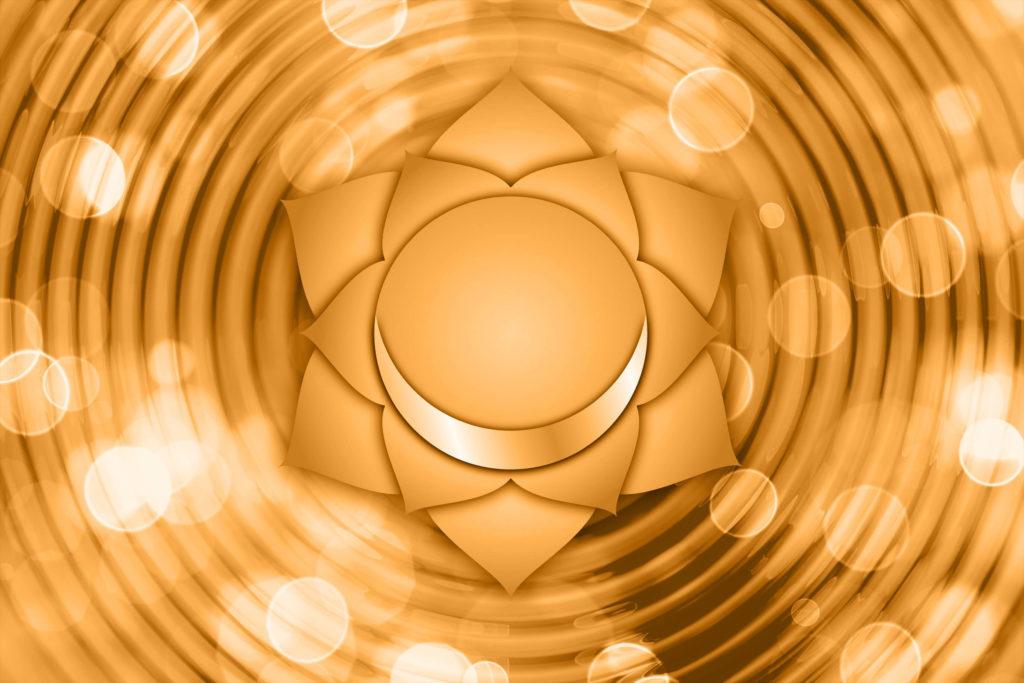 Représentation du chakra sacré pour aider à comprendre comment ouvrir ses chakras et leurs bienfaits