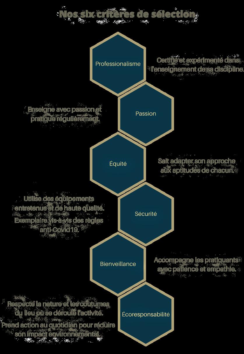 graphique montrant nos critères de sélection