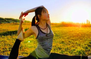 Haiha en séance de Yoga