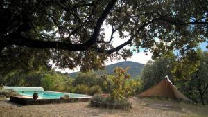 Vue de la piscine de l'Arcanel