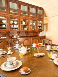 Petit-déjeuner au Château du Beaujolais