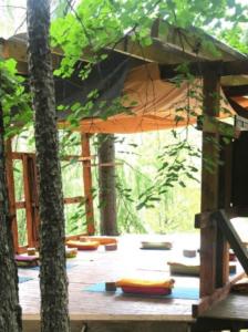 Salle de pratique yoga
