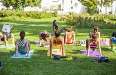 Yogis en cours de yoga