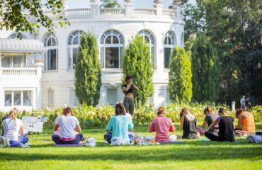 Yogis en séance de méditation