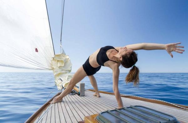 yoga et voile